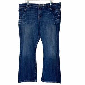 BKE Drew Distressed Midrise Bootcut Stretch Jeans